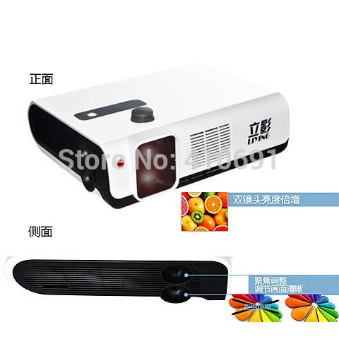 1298.00$  Buy now - http://alisnx.worldwells.pw/go.php?t=1853819767 - Free shipping 1080P RealD Polarized 3D Projector Dual Lens, Full HD 3D Cinema Projector 1298.00$