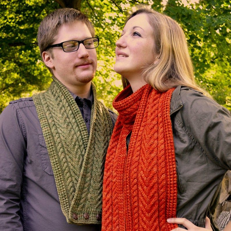 Photo of Cable Scarf And Cowl Knitting PATTERN PDF, Knitted Scarf And Cowl Pattern – Cider Press Scarf and Cowl