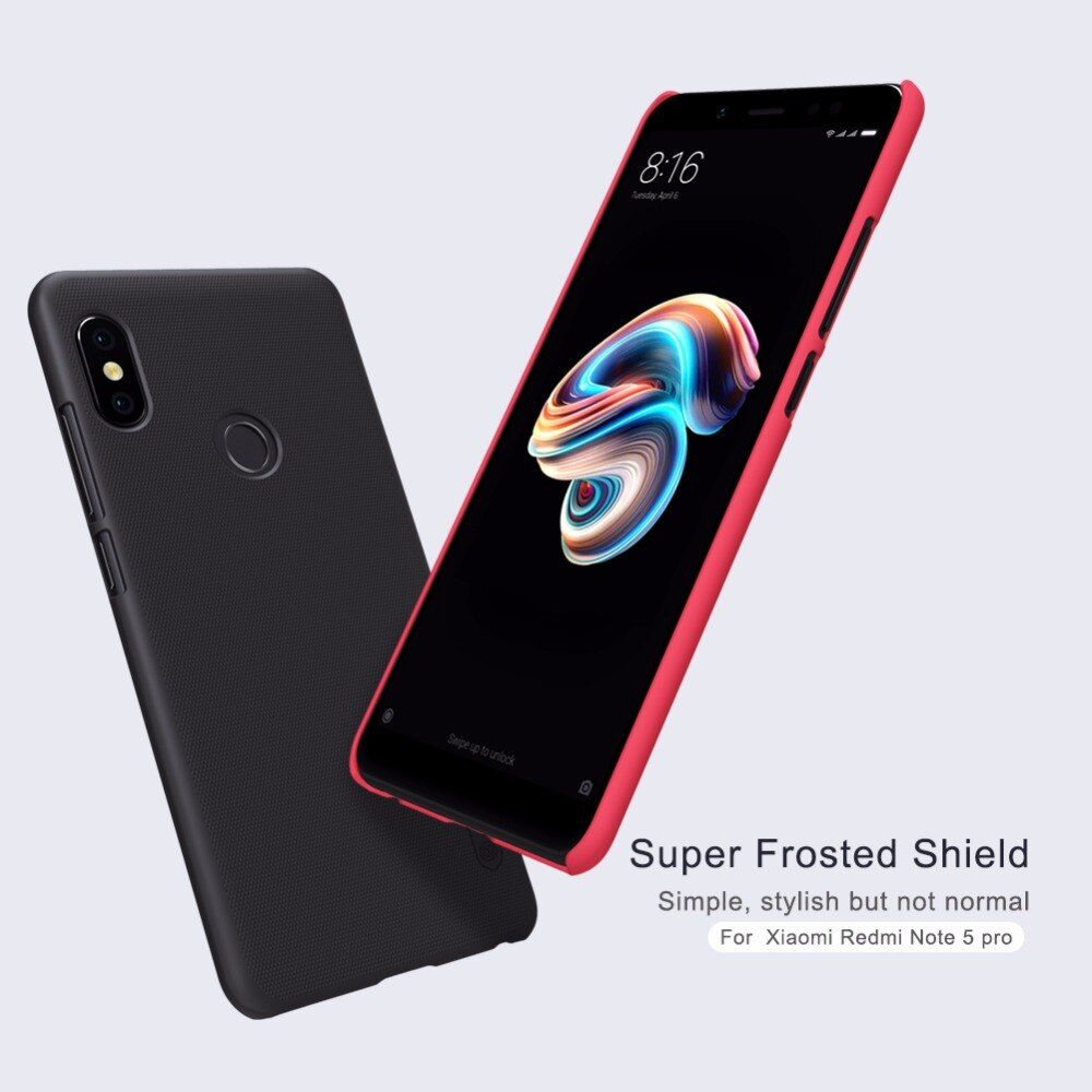 For Xiaomi Redmi Note 5 Pro Case Nillkin Frosted Matte Hard Pc Plastic Business Phone Bag Cover For Redmi Note 5 Pro