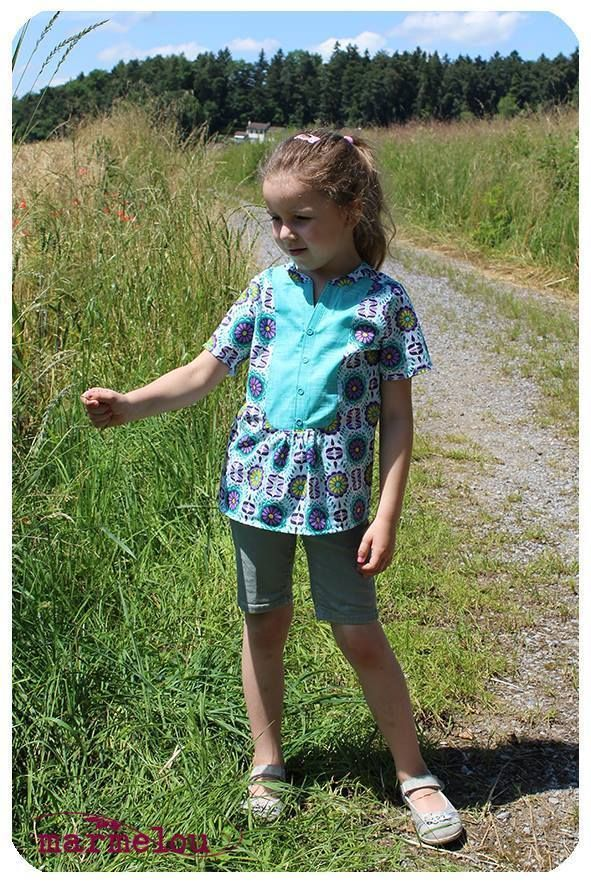 Schnittmuster Ebook lillesol stars No.14 Evita-Bluse / Nähen Bluse / sewing pattern blouse