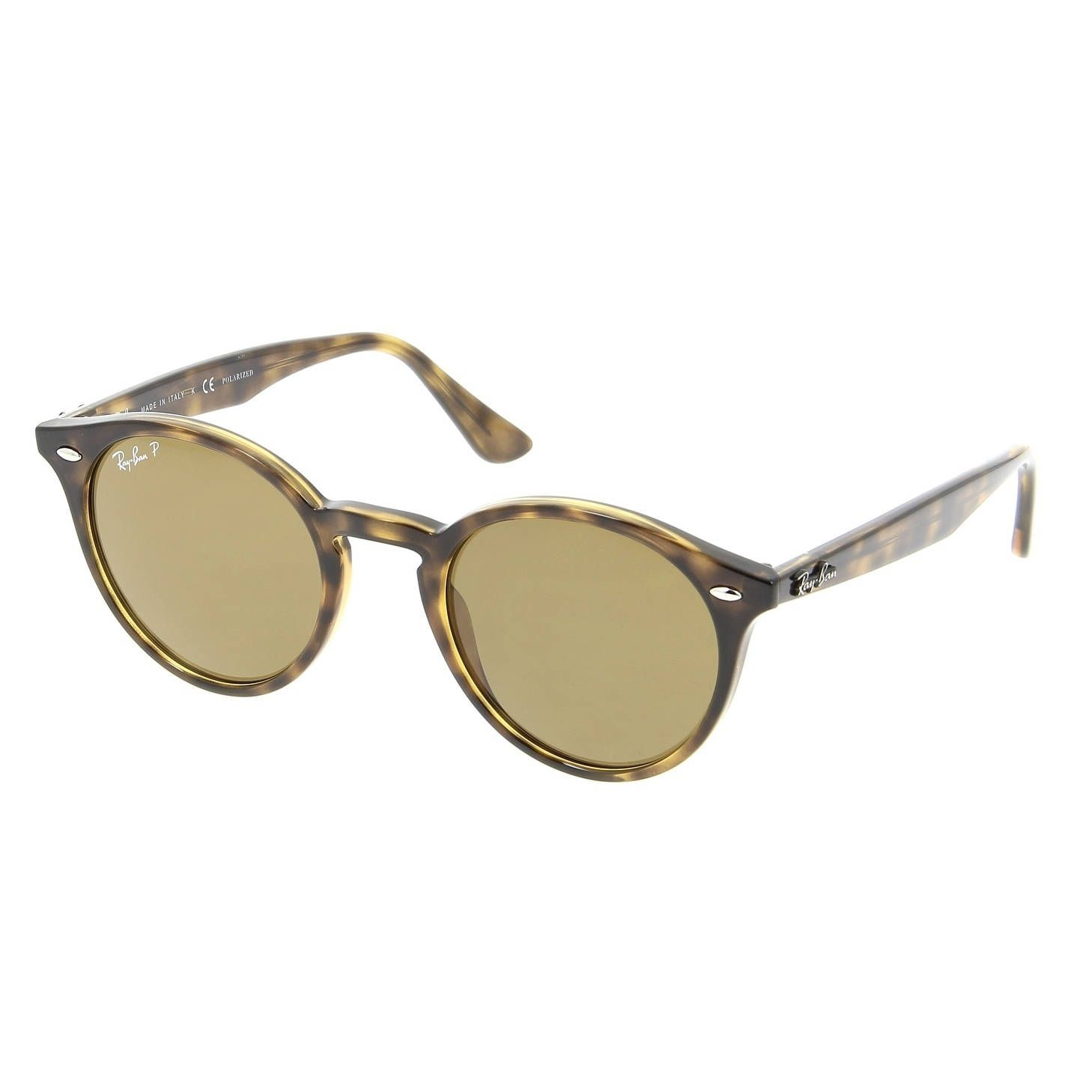 60bea6f4470 Ray-Ban Round Classic Tortoise Brown Polarized Sunglasses Sunglasses  RB2180-710 83-