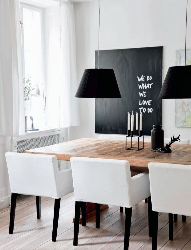 So drawn to the clean white + with the rustic table