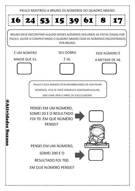 Matemática lúdica 3º ano - Atividades Adriana