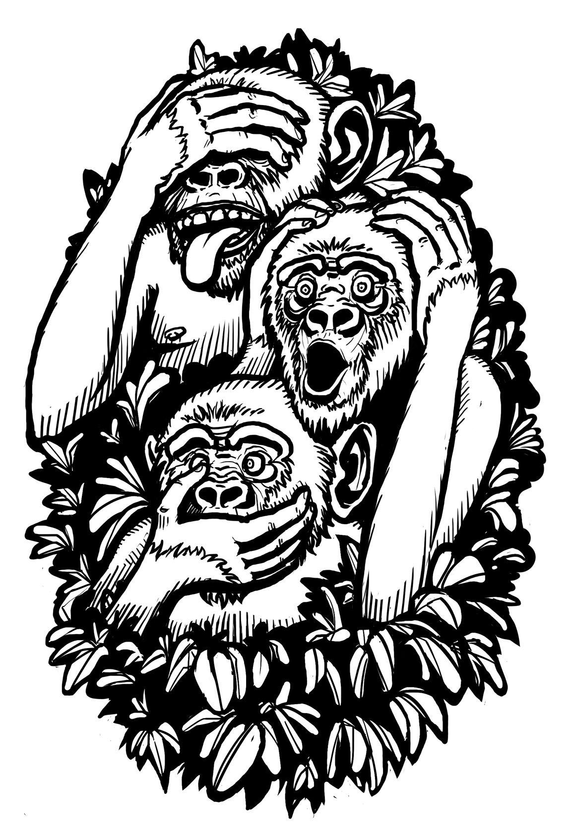 3 Monos Sabios Tatuajes diseño del tatuaje de tres monos sabios   tres monos sabios