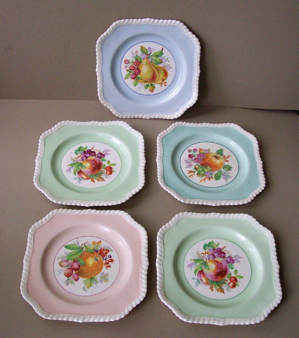 Vintage Johnson Bros. OLD ENGLISH 8-sided Square Fruit Salad Plates | eBay & Vintage Johnson Bros. OLD ENGLISH 8-sided Square Fruit Salad Plates ...