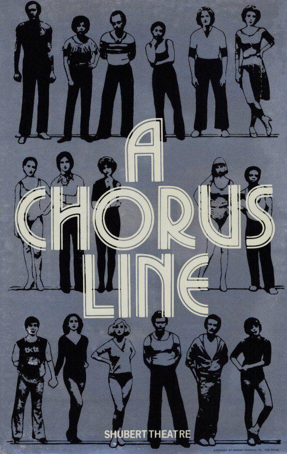 Saw it twice. Broadway posters, A chorus line, Broadway