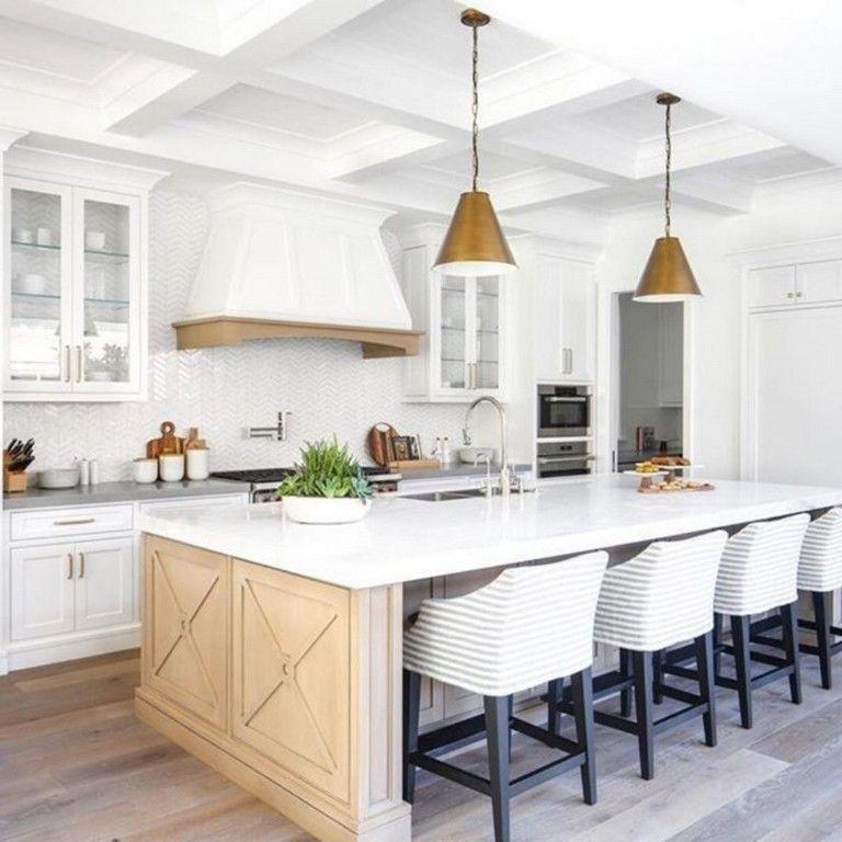 42 Awesome Modern Coastal Kitchen Design Ideas Coastal Kitchen Design Kitchen Layout Best Kitchen Layout
