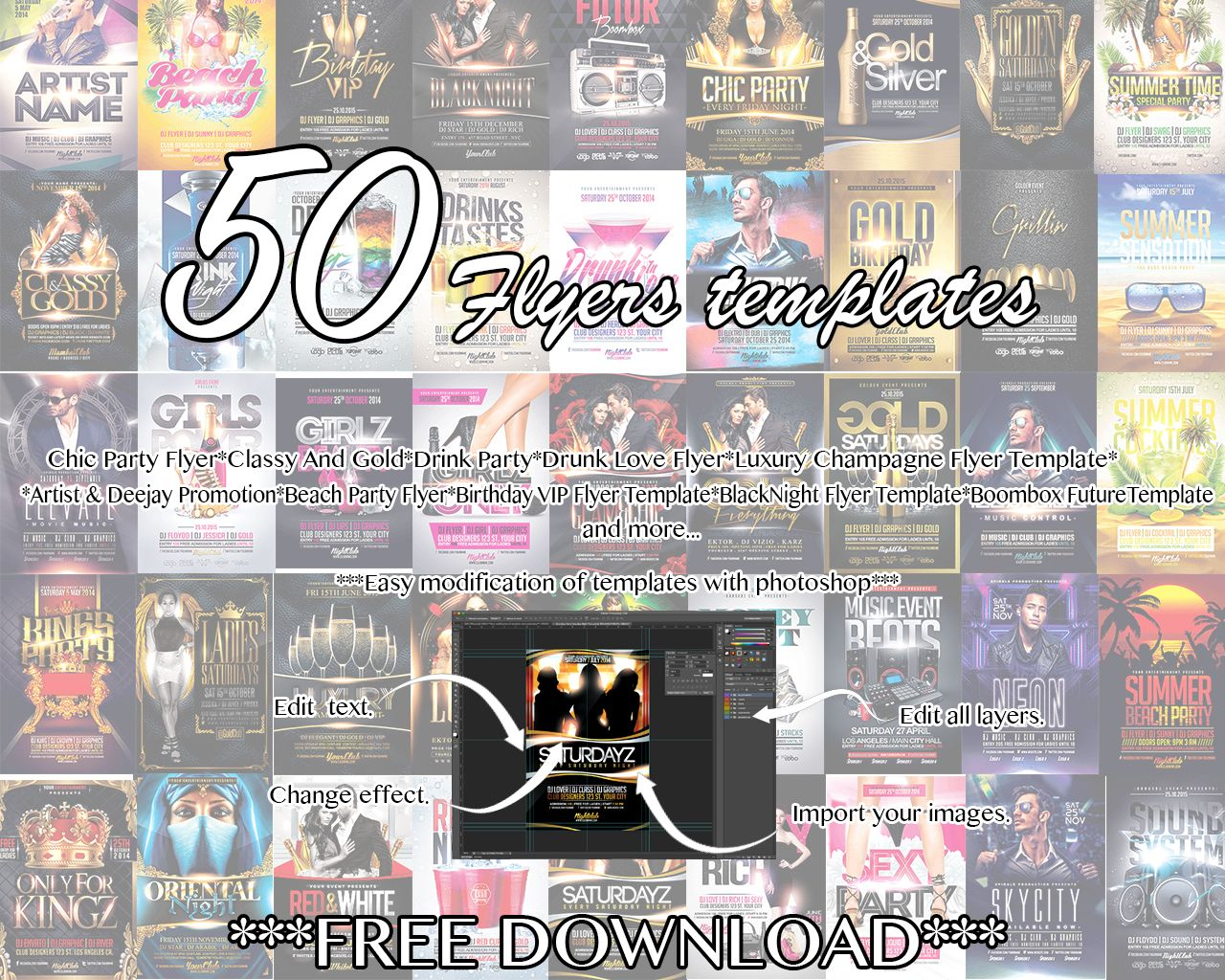 The MEGA GRAPHICS Bundle with 5O FLYERS **** FREE DOWNLOAD ...