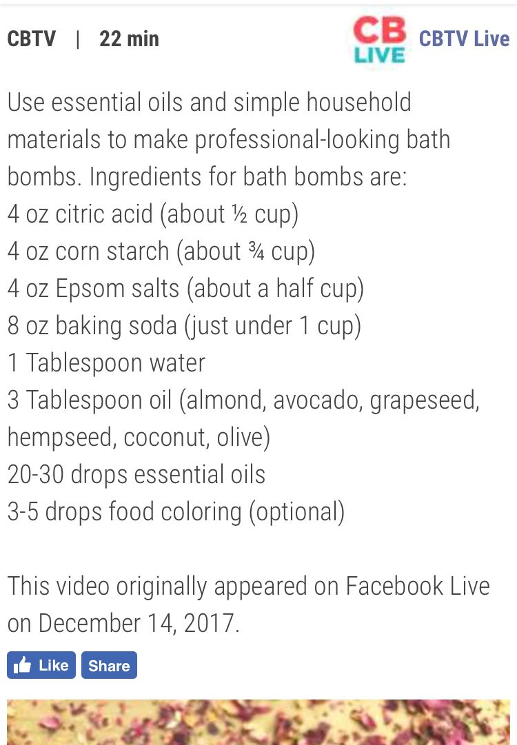 how to make bath bombs without citric acid and epsom salt