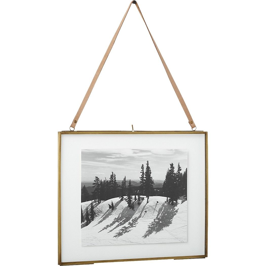 Shop brass floating picture frames. Handmade brass frames with clear ...