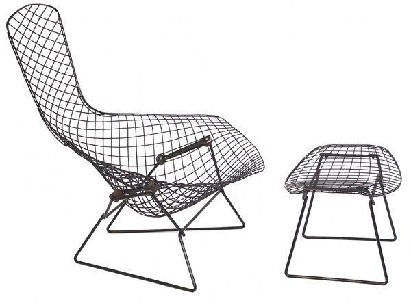 Harry Bertoia Bird Chair Modell Nr 423 LU 19501952 – Bertoia Bird Chair Cover