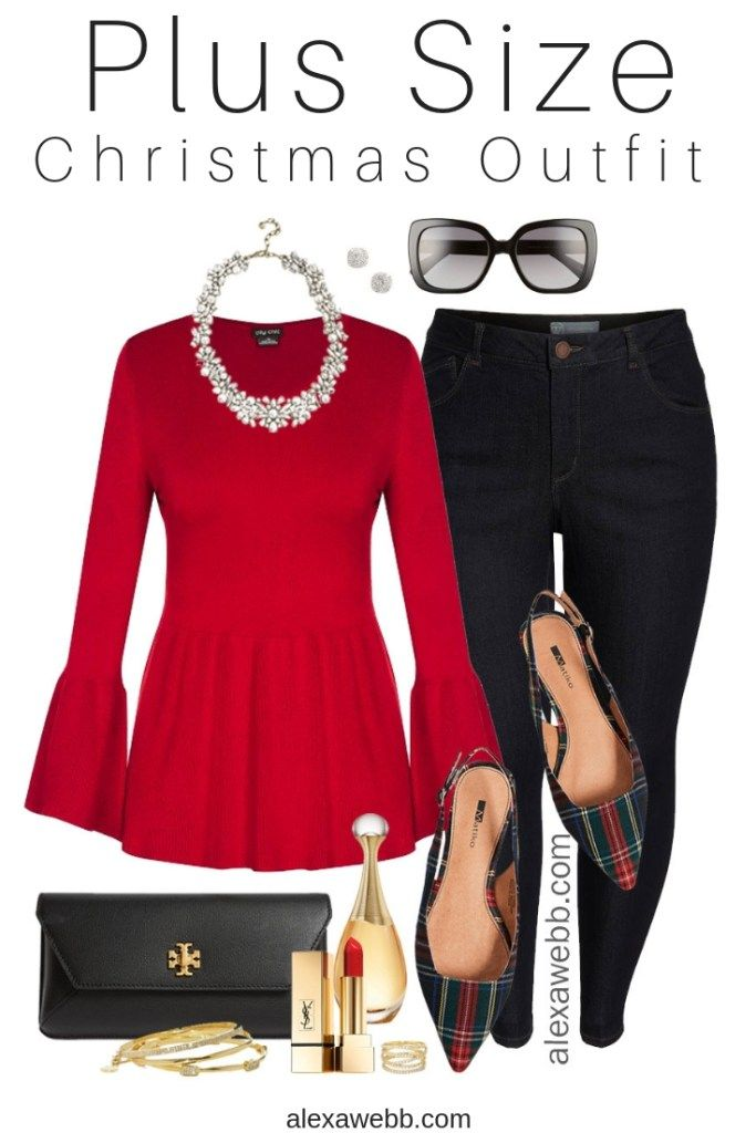 Plus Size Christmas Outfit - Alexa Webb
