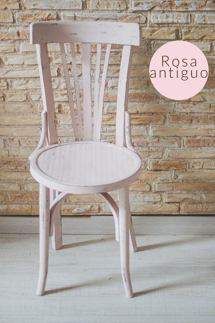 Sillas de colores muebles restaurados pinterest - Muebles restaurados vintage ...