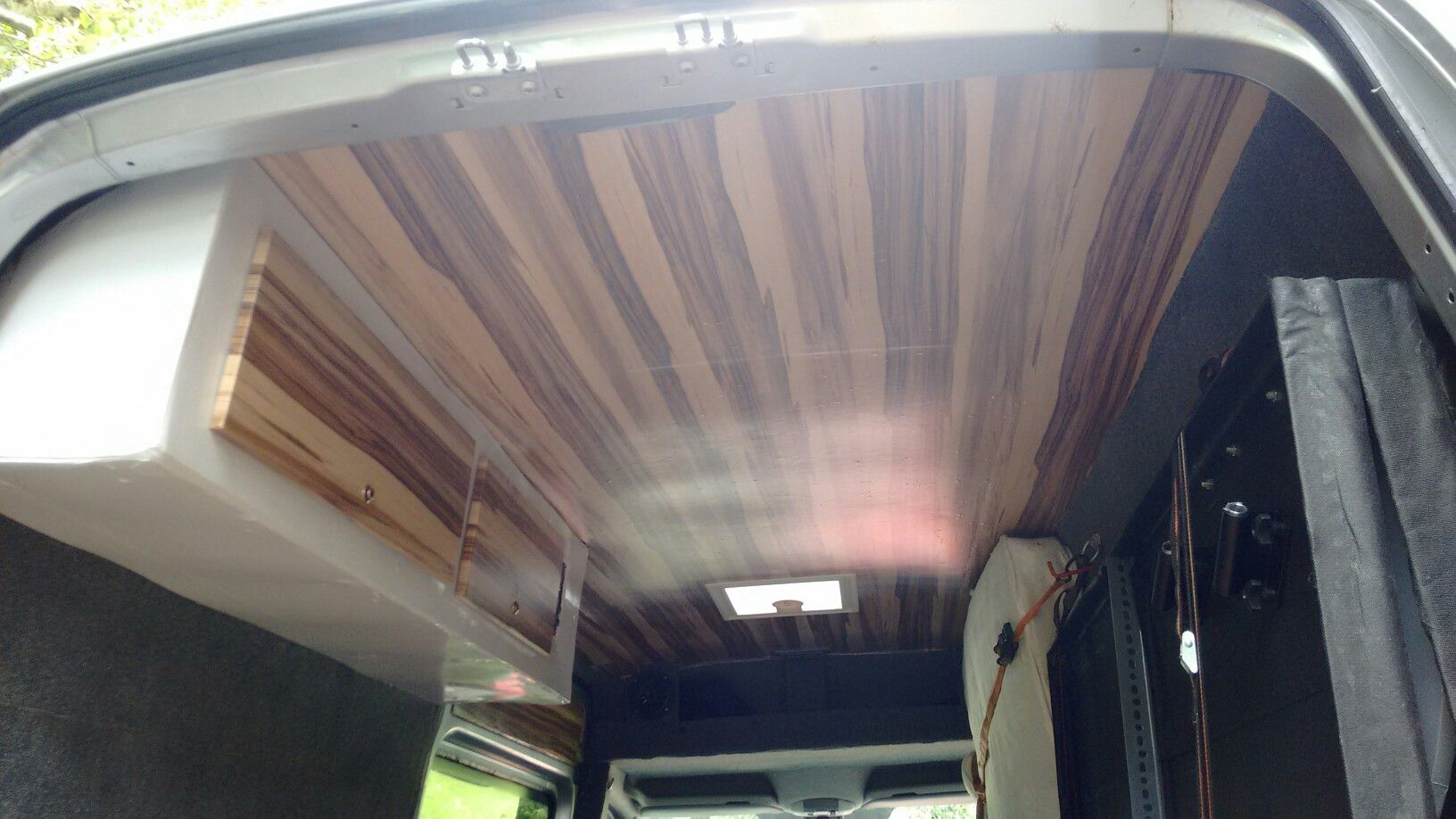 I Covered The Roof And Cabinets In Fablon After Sanding Them To Prepare The Surface It Is A Frustrating Job Especially Doing Something As Big As The Ceiling
