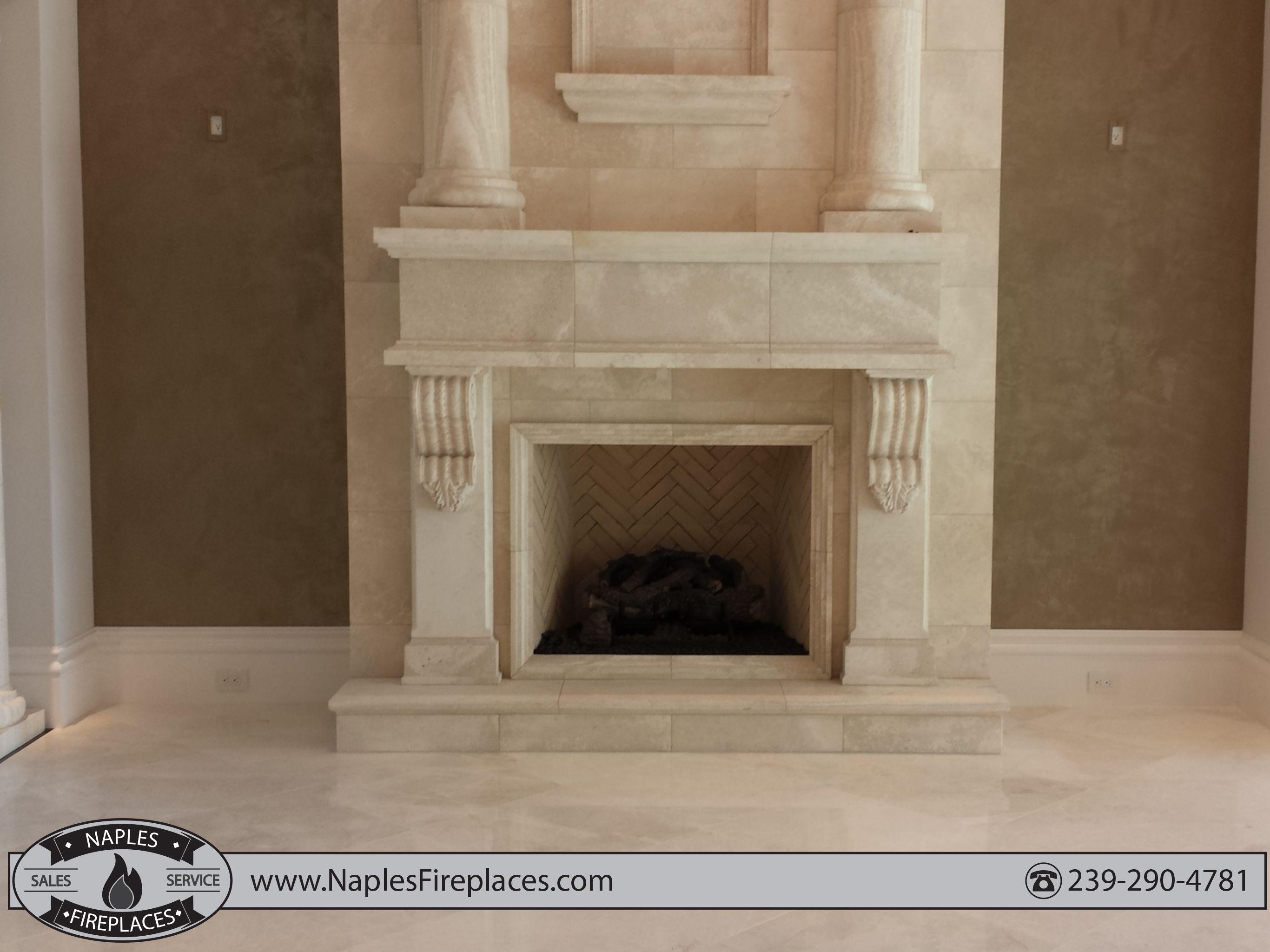 Custom fireplace in Naples Fl | Indoor Fireplaces | Pinterest ...