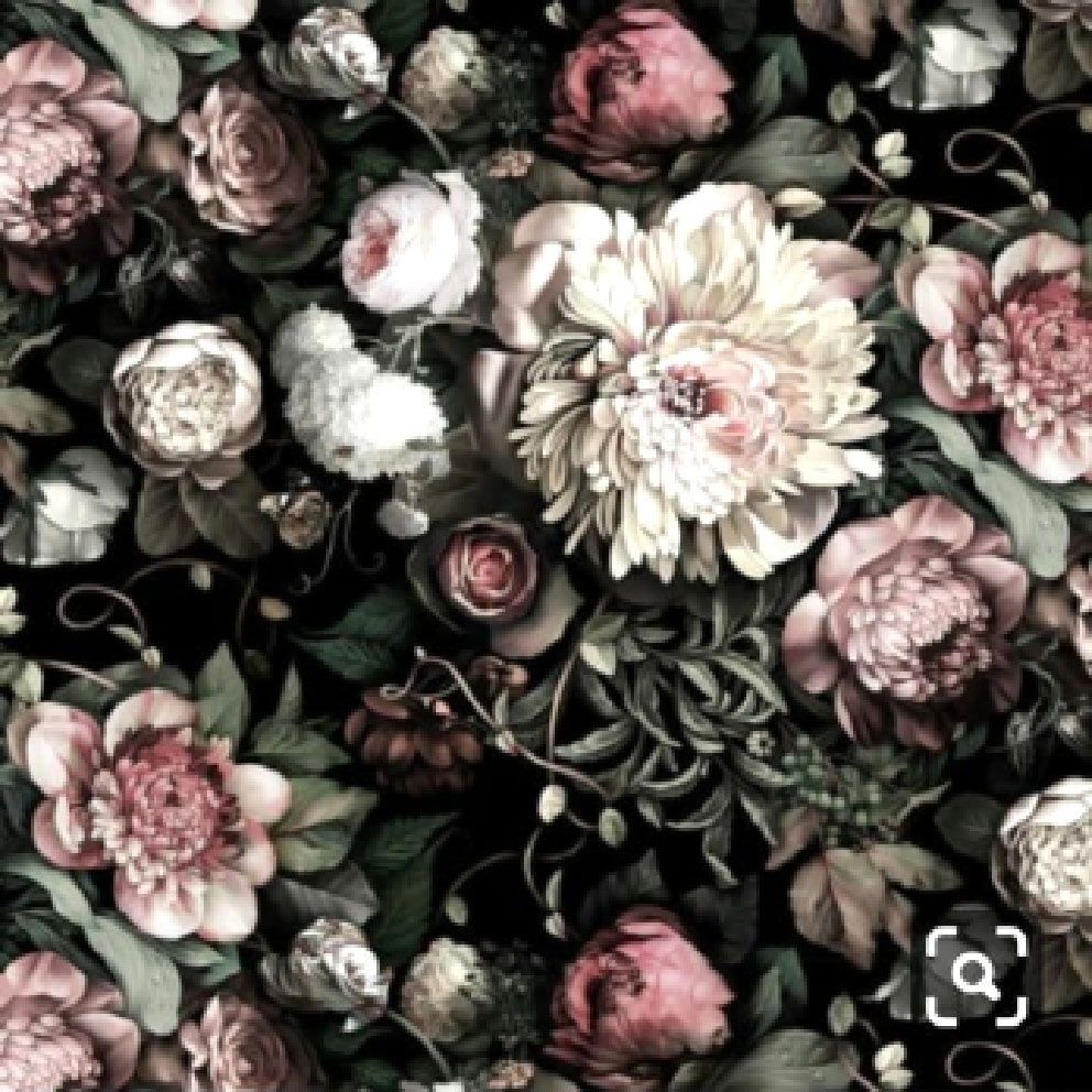 Pin By Sbdigital On Flower Design Floral Wallpaper Black Floral