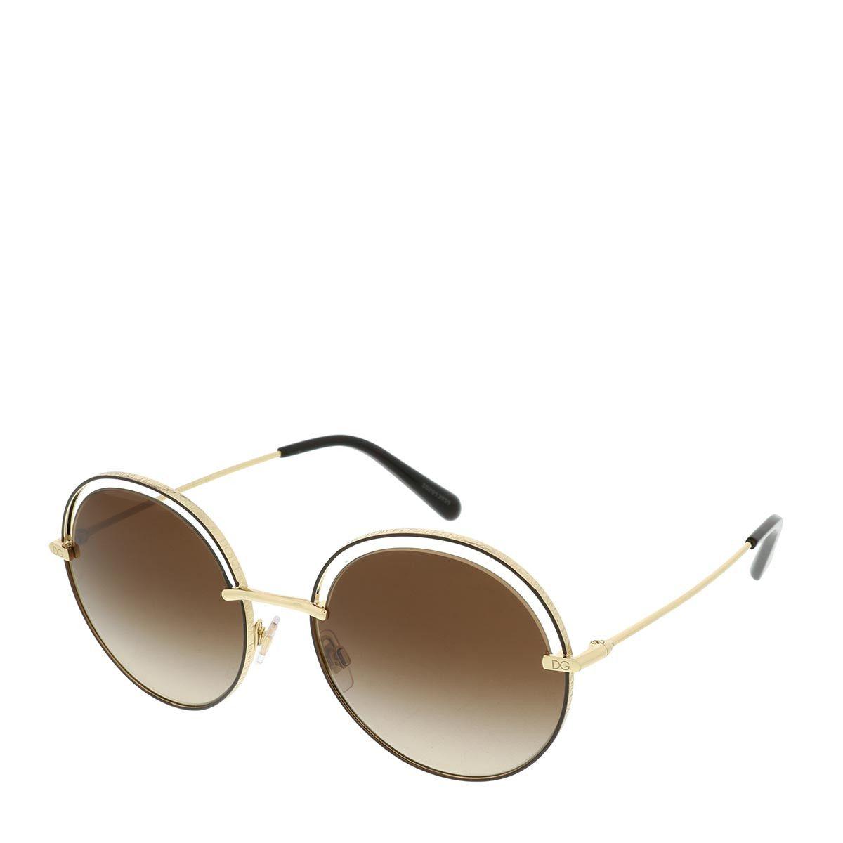 Dolce&Gabbana 0DG2262 134413 Woman Sunglasses Charisma Gold/Brown Sonnenbrille
