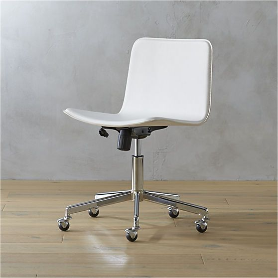 Form White Office Chair Modern Office Chair White Leather