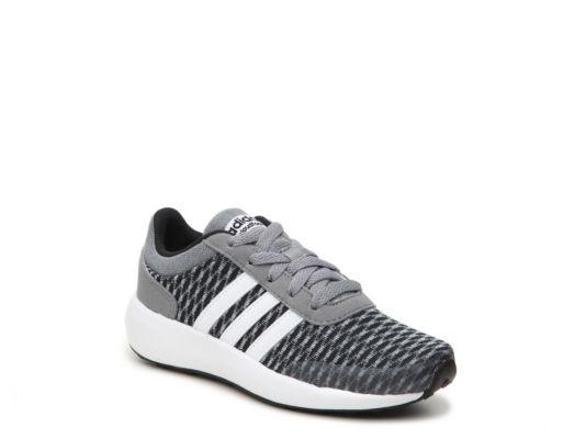 Men's adidas NEO Cloudfoam Race Girls Toddler & Youth Sneaker - Grey