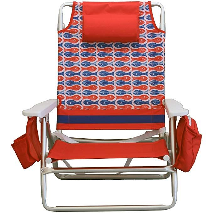 Peachy Nautica Reclining Portable Beach Chair With Insulated Cooler Gmtry Best Dining Table And Chair Ideas Images Gmtryco