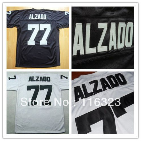 1fd85d515dc Football Jerseys Lyle Alzado #77 Black,White Throwback Sports Jersey  Size:48~56+Mix Order,Free Shipping US $28.00