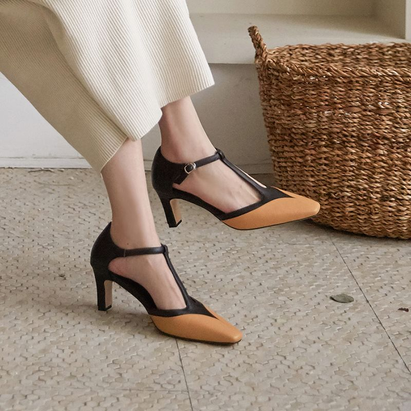 Chiko Colette Square Toe Chunky Heels Pumps Chunky Heel Pumps Shoes Heels Pumps Heels