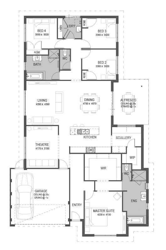 The Treble Floorplan By Go Homes House Floor Plans Home Design Floor Plans Container House Plans