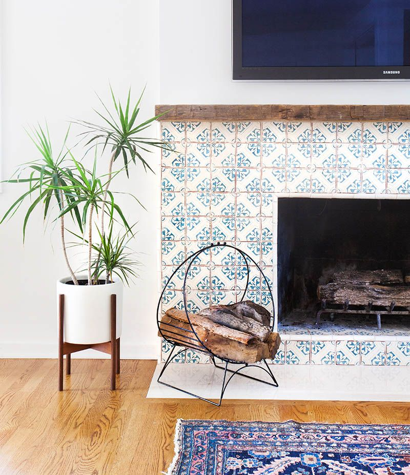 Architecture : Spanish Tile Fireplace Home Table Chairs Floors Walls Living  Room Dining Room Sink Space