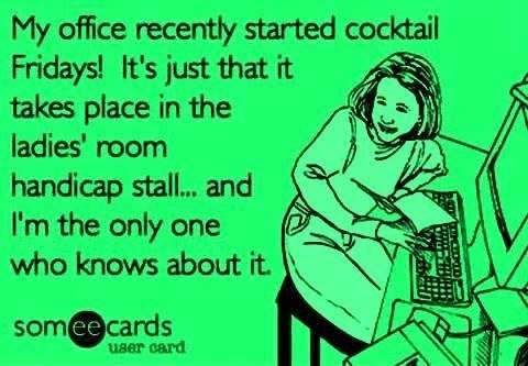 ocunaqtrit: funny office jokes |Office Friday Wine Humor