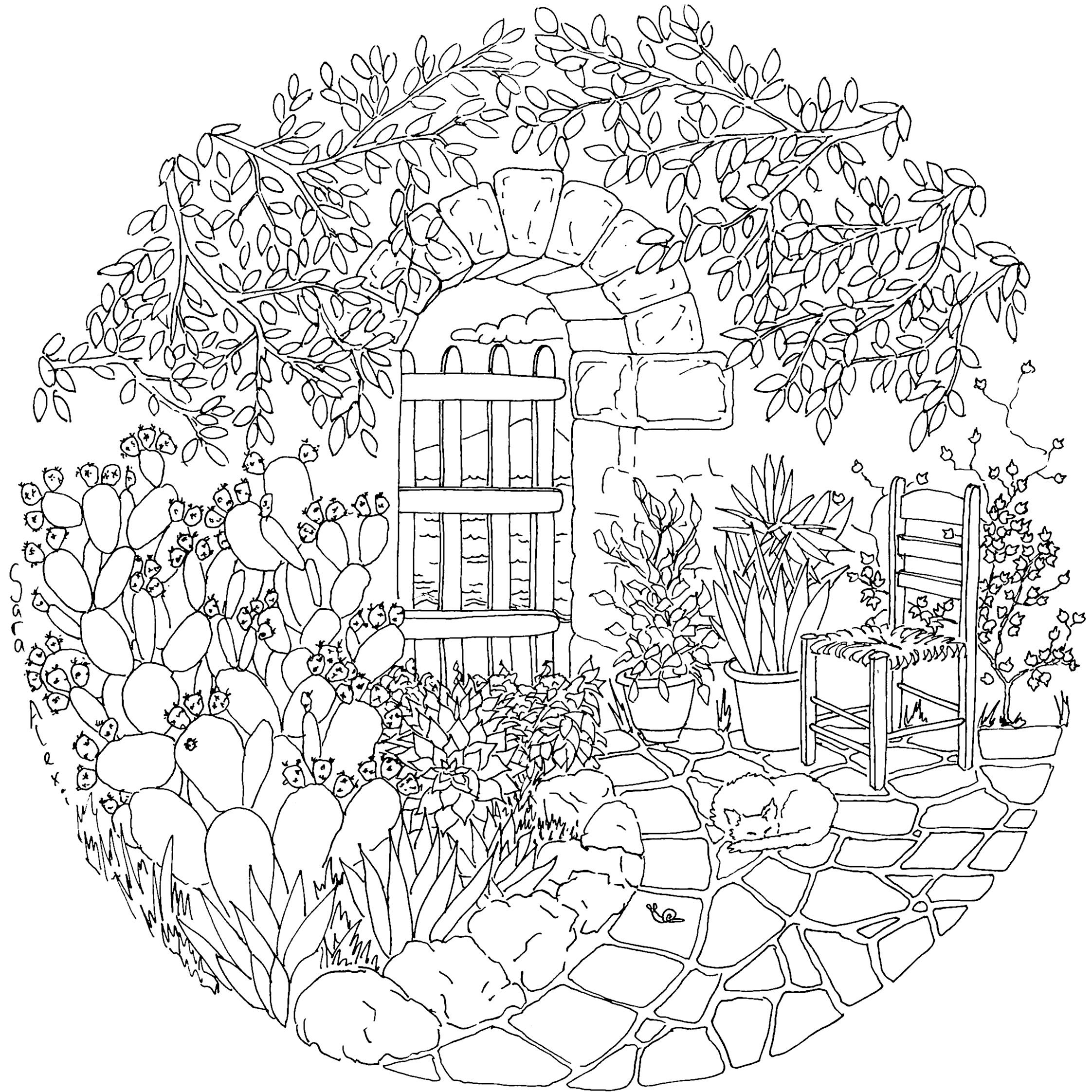 Adulting coloring pages ~ bi-garden-copy | Art | Coloring books, Free adult coloring ...