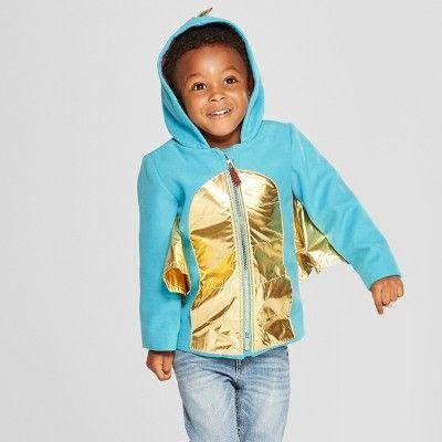 de7ef2185 Toddler Boys  Dragon Faux Wool Softshell Jacket - Cat   Jack™ Teal ...