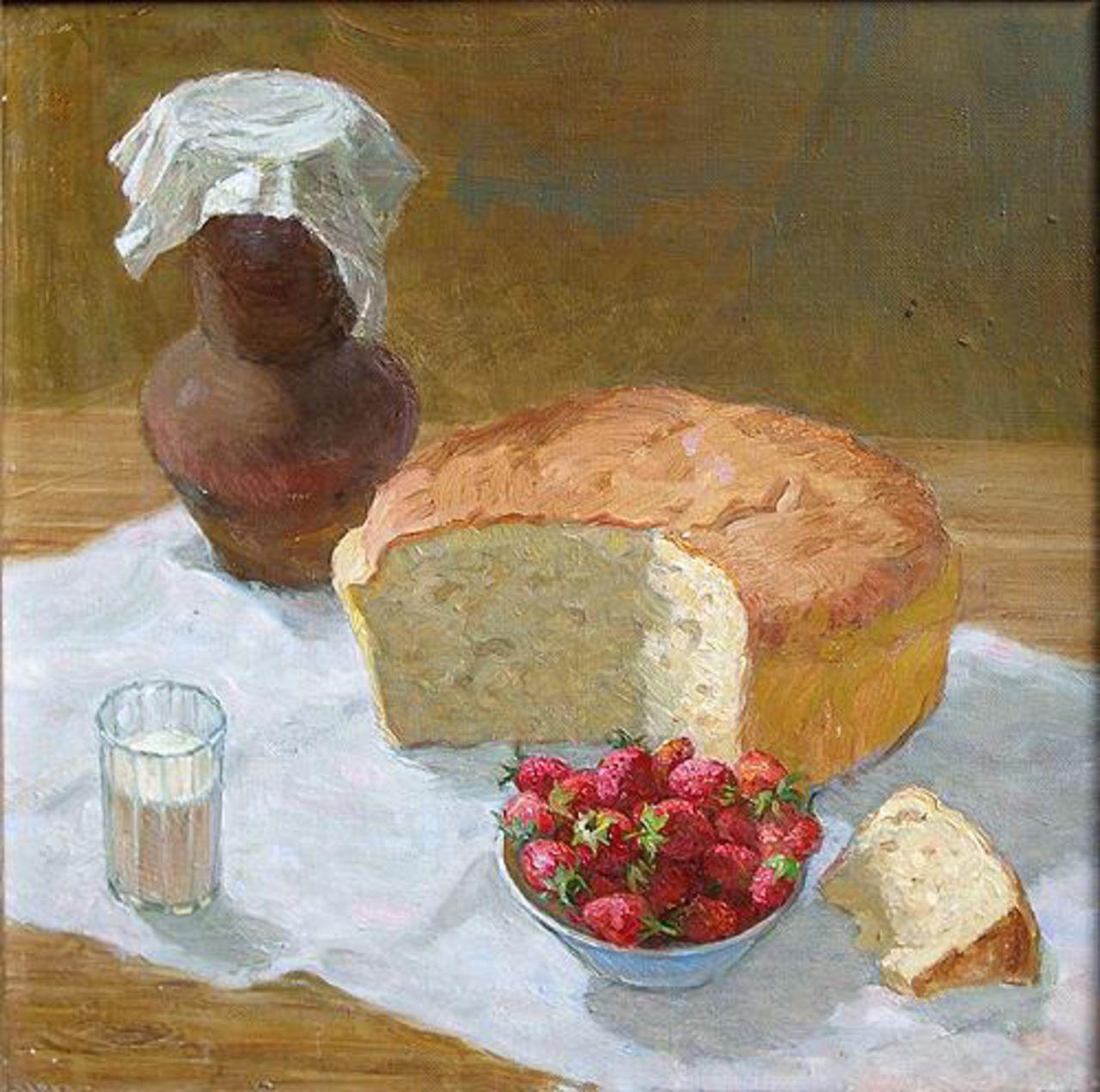 Лежнин Иван. Натюрморт с хлебом