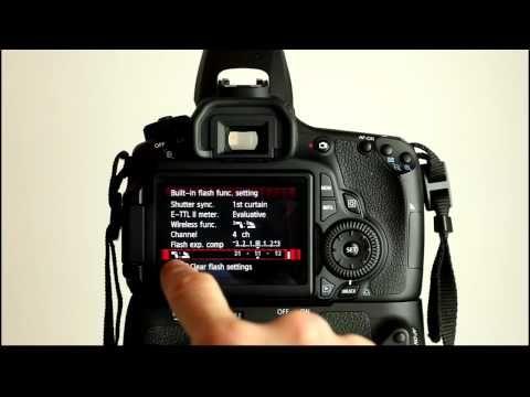 Canon EOS 60D Tutorial Video 3 Part 1 - Flash Control Menu | Stills
