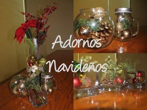 Hacer estos adornos navide os es facil simo necesitas muy - Ideas para arreglos navidenos ...