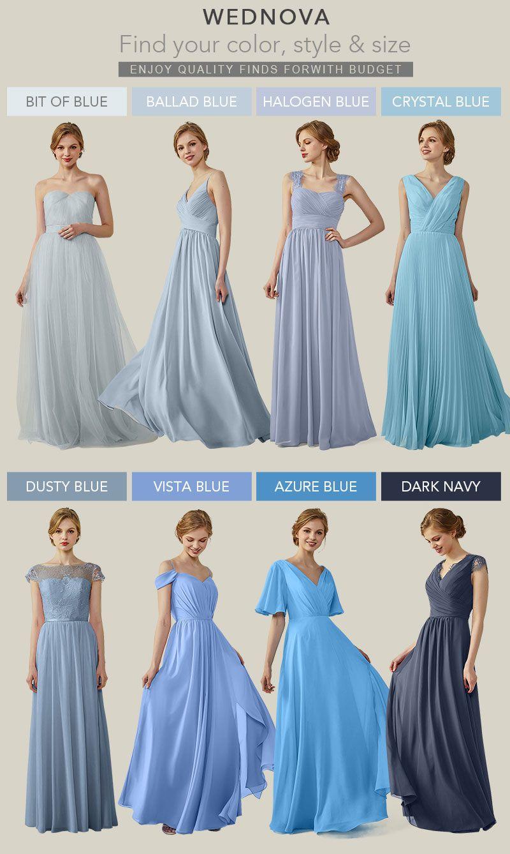 Elegant vneck straps bridesmaid dresses blue illusion cold the