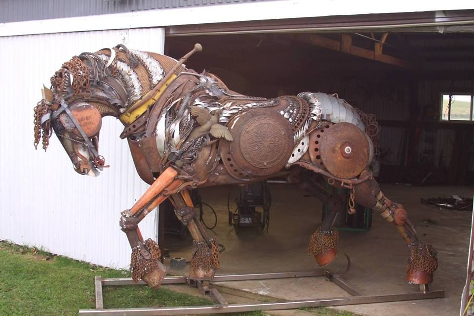 A Stallion Made Out Of Scrap Metal Metal Horse
