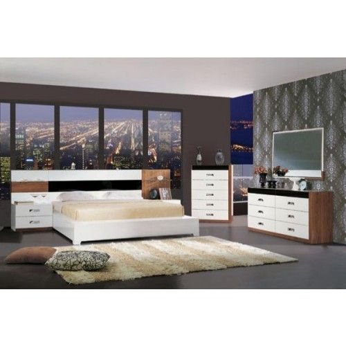Sophia II Modern White Platform Bed Set | GreatFurnitureDeal.com: | Great  Furniture Deal
