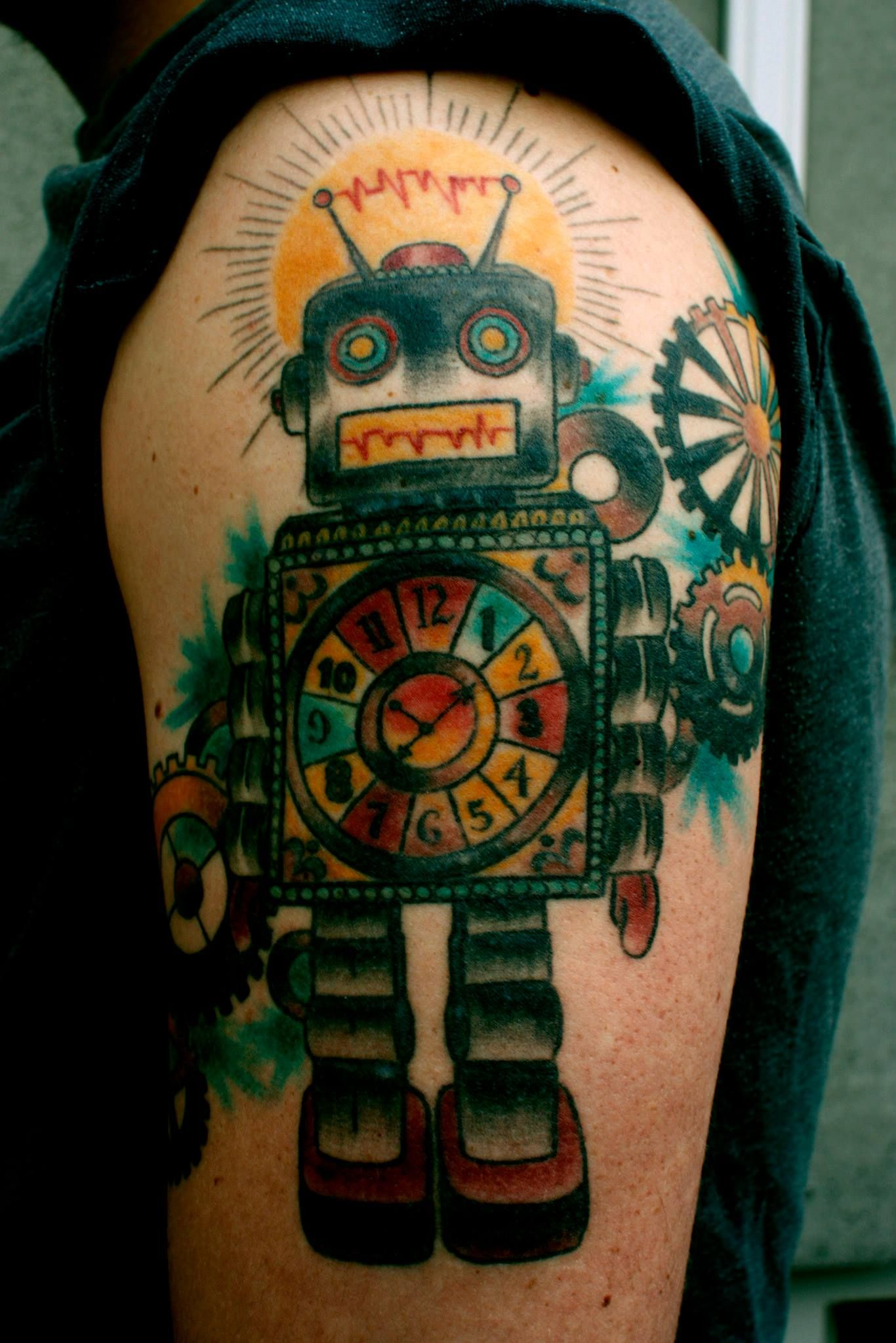 Pin by Colleener Neener on Tattoos Robot tattoo