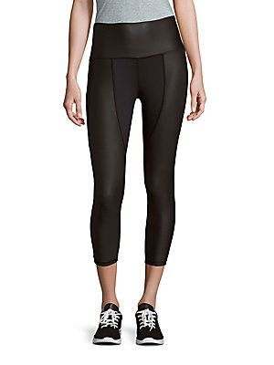 Just Live Solid Cropped Leggings - Black - Size