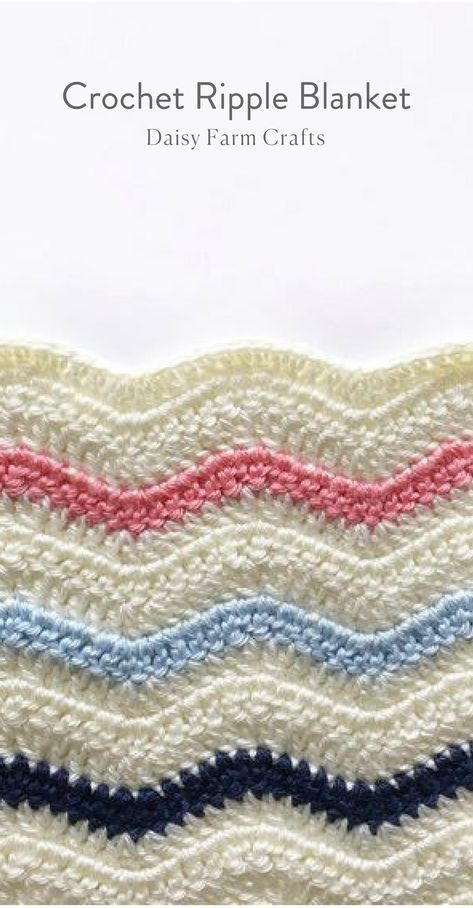 Free Pattern - Crochet Ripple Blanket | Crocheted pattern ...
