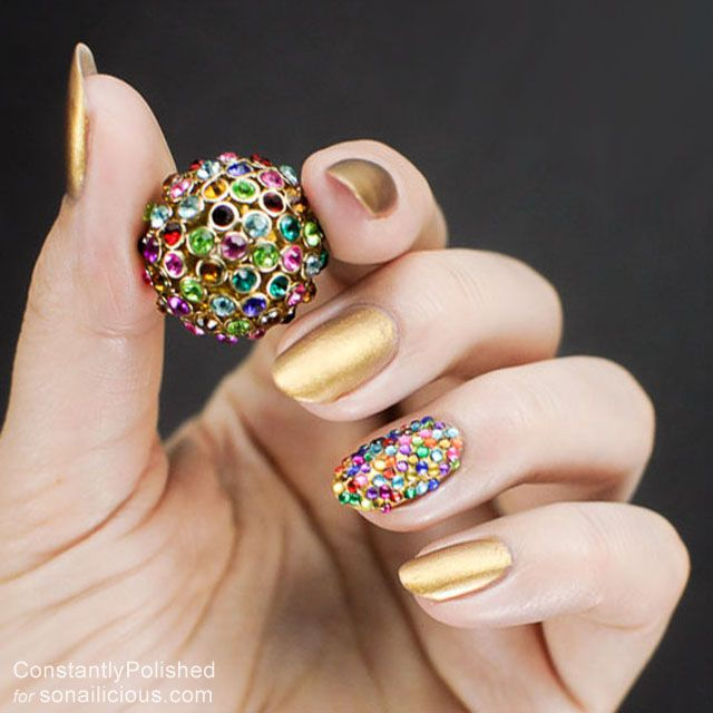 easy manicure ideas accent nail 5 | Pinterest | Manicure ideas ...