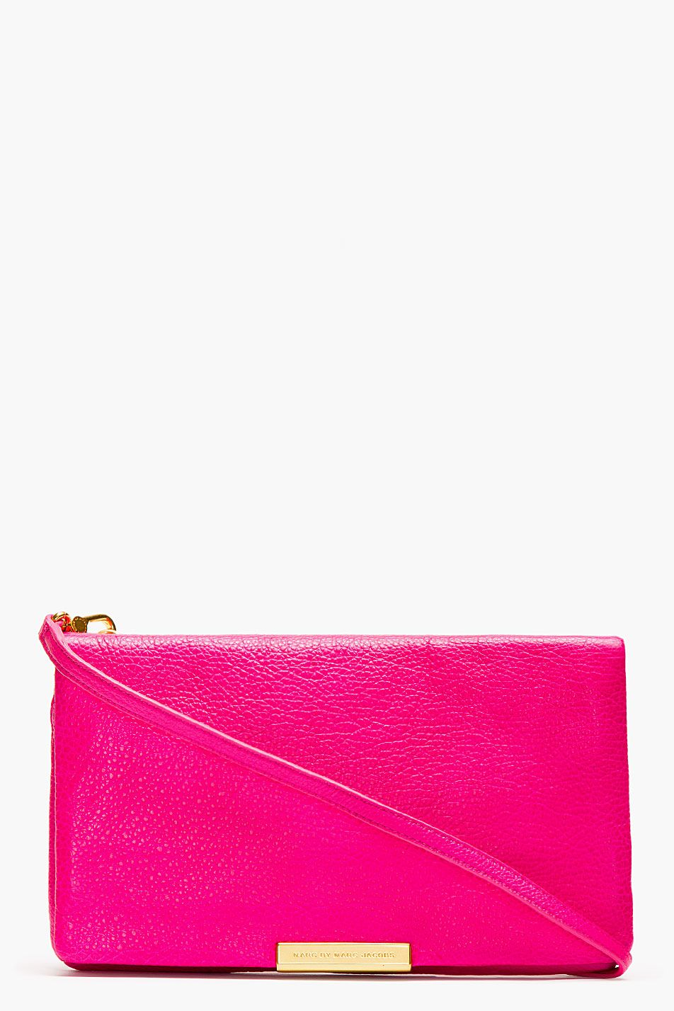 Marc By Marc Jacobs Pink Leather Raveheart Clutch