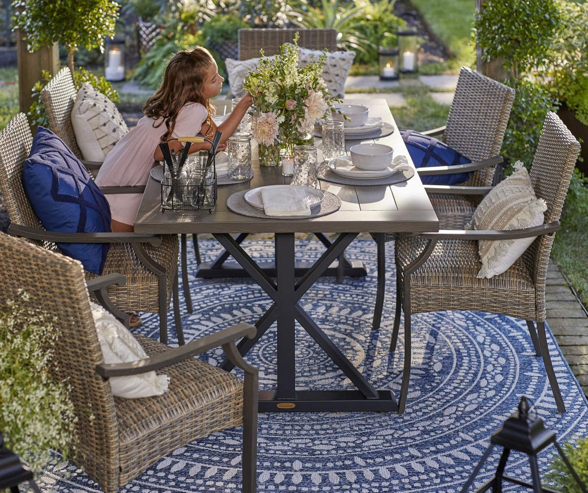 Broyhill X Frame Patio Dining Table In 2020 Patio Patio Dining Furniture Backyard Dining Table