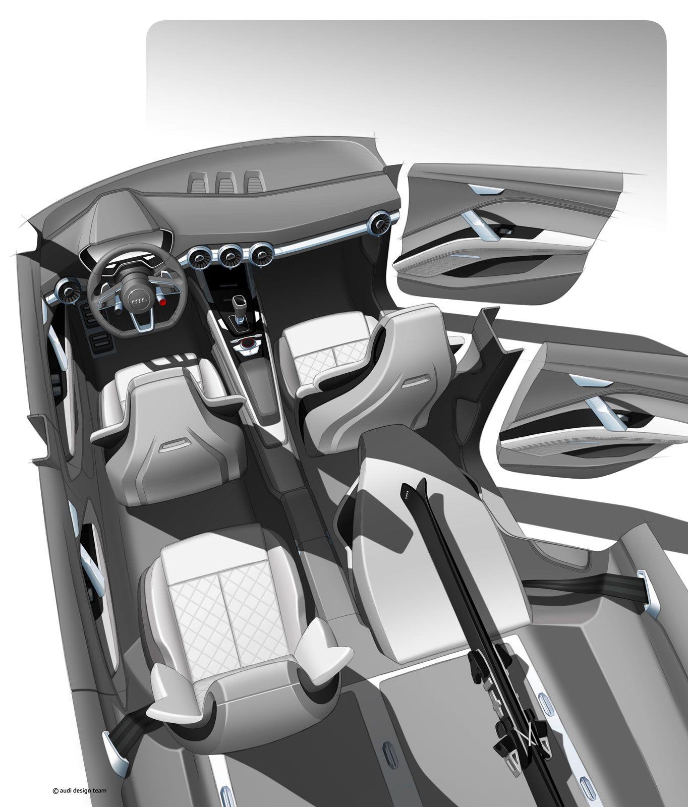 #Audi Crossover Concept for Beijing 2014 - Interior Design Rendering #concept #design #sketch