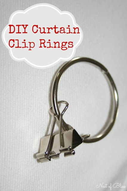 Diy Curtain Clip Rings Sheets For Curtains Diy Curtains Curtain Rings With Clips Diy Curtain Rings