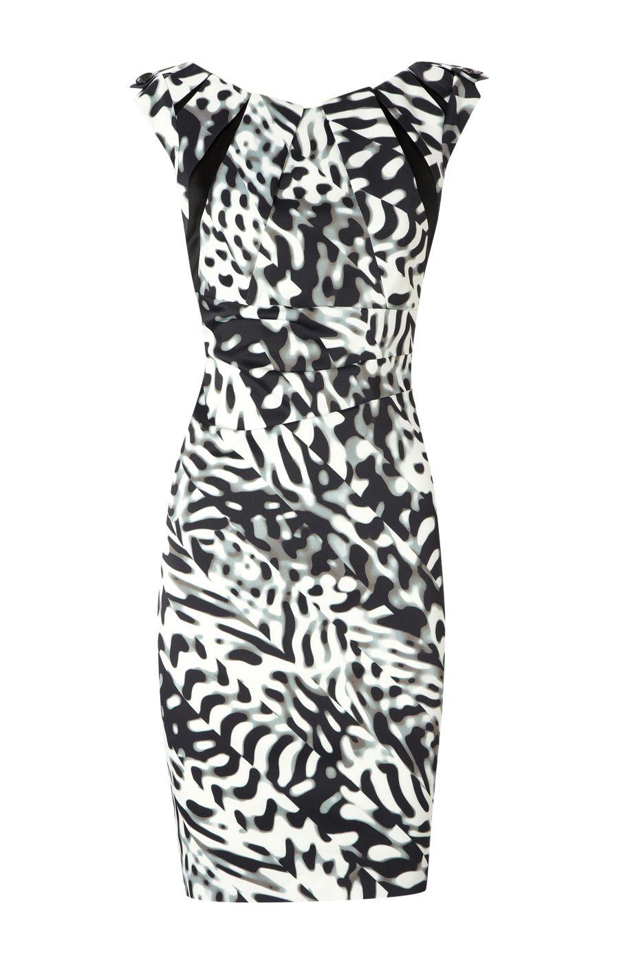 http://www.designer-bag-hub.com Karen Millen Black and White Print ...