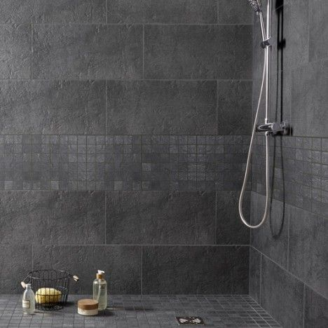 Lmerlin Mosaique Vestige Premium Anthracite 5x5 Cm Bathroom Mosaic Bathroom Scandinavian Bathroom