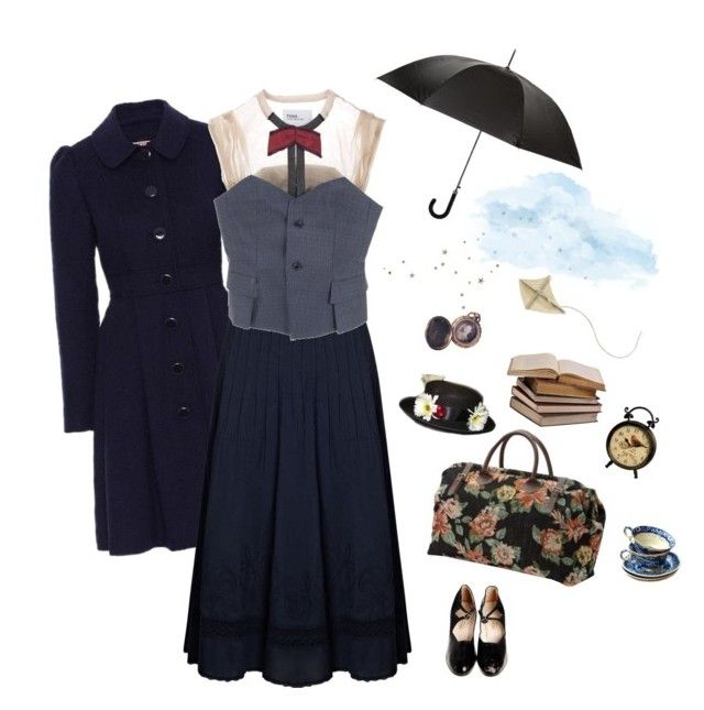 """Mary Poppins"" by deepforestdust ❤ liked on Polyvore featuring Jamison, Monsoon, Toga, Burberry and mel"