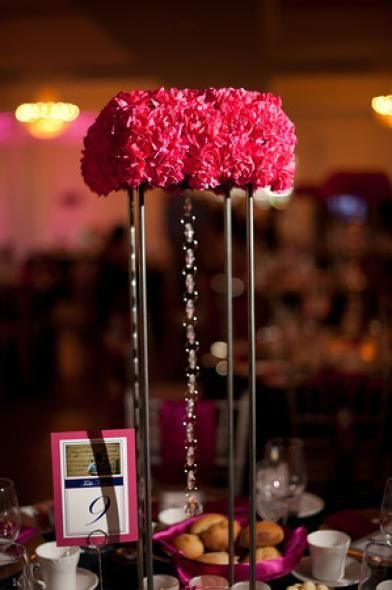 Cheap Centrepiece Idea Use Clusters Of A Less Expensive Flower