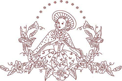 Redwork Embroidery Belle1 Embroidery Sunbonnet Sue And Patterns